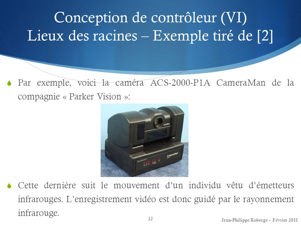 Conception de contrôleur (VI) Lieux des racines – Exemple tiré de [2]